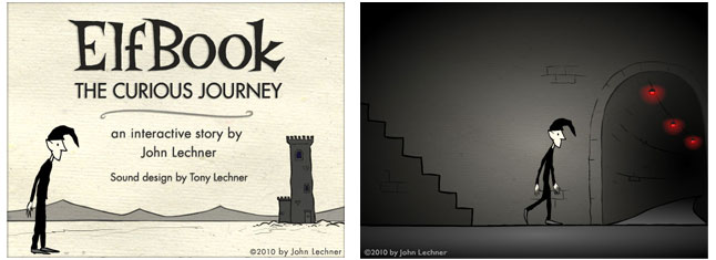 Elfbook: The Curious Journey, an interactive story by John Lechner, sound design by Tony Lechner